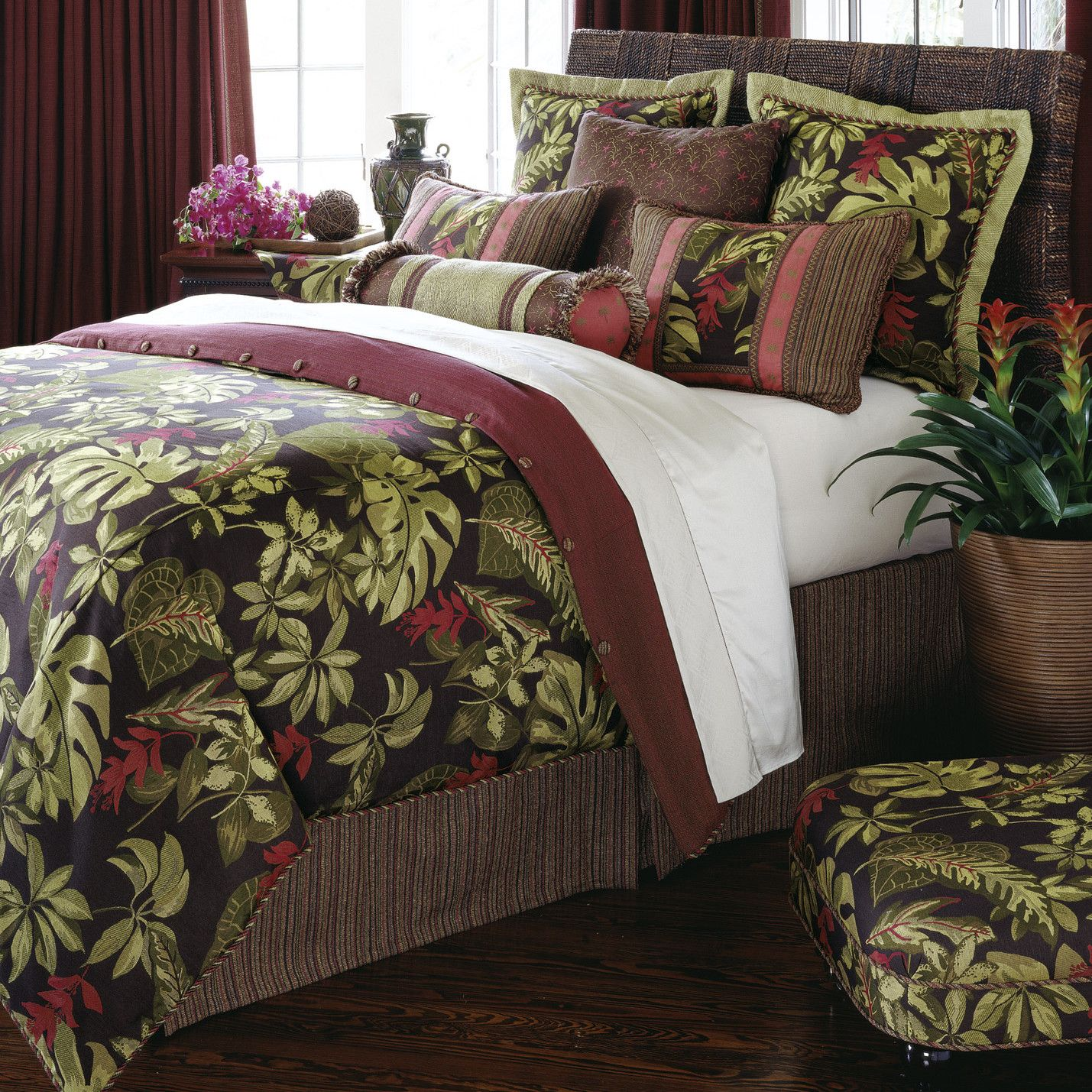 Eastern Accents Tahiti ButtonTufted Bedding Collection