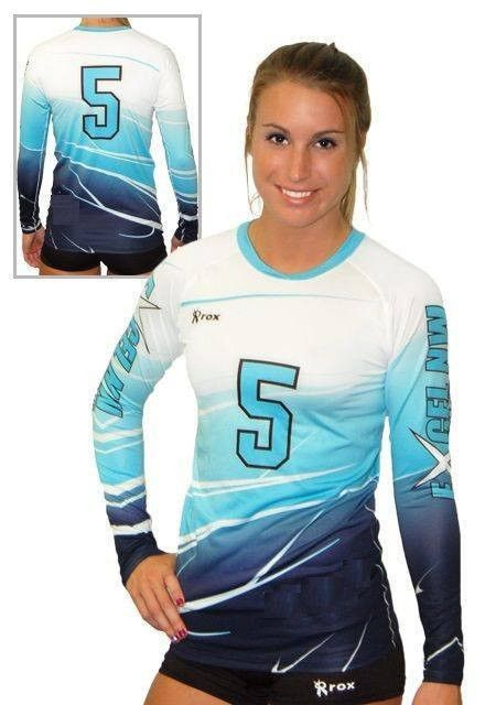 What If We Would Do Something Like This But With Shorter Sleeves Volleyball Jerseys Volleyball Outfits Volleyball Uniforms Design
