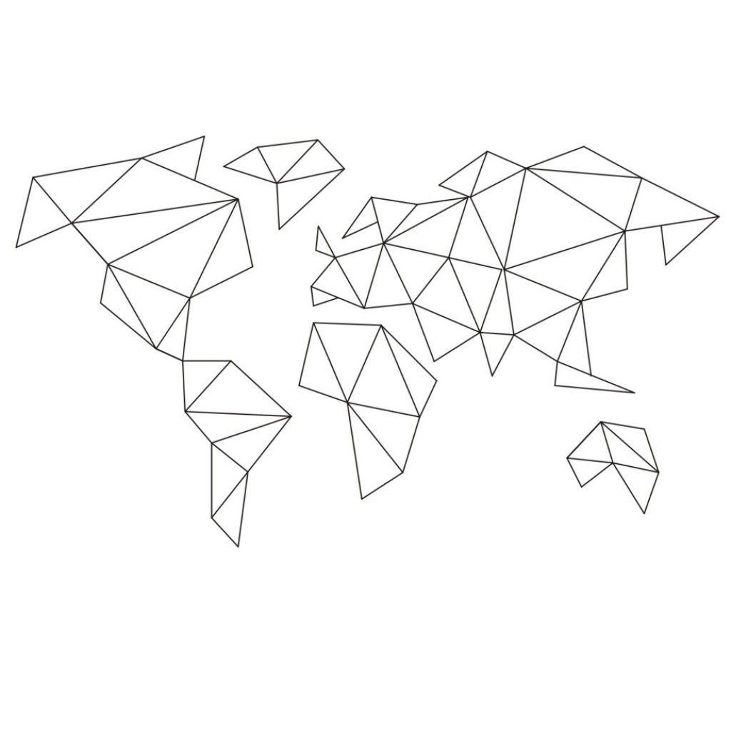 Dekoracja Druciak Mapa S