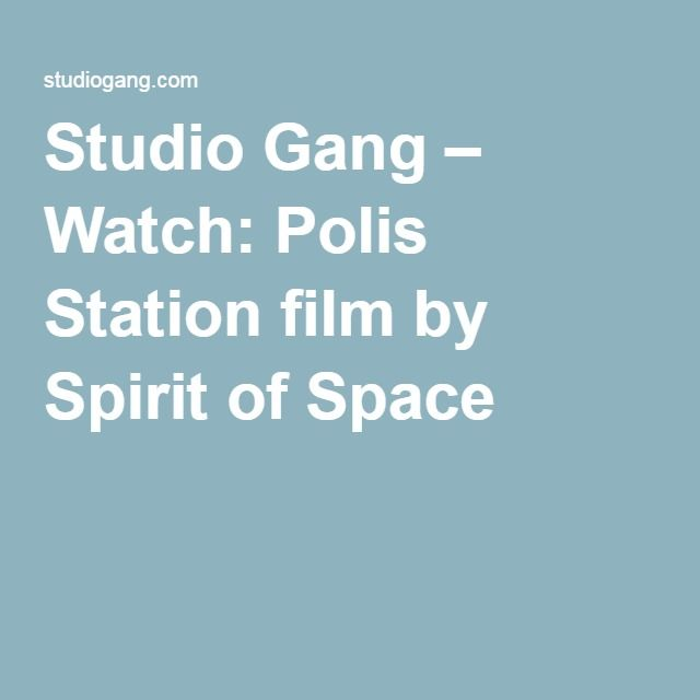 Watch: Polis Station Film By Spirit Of Space