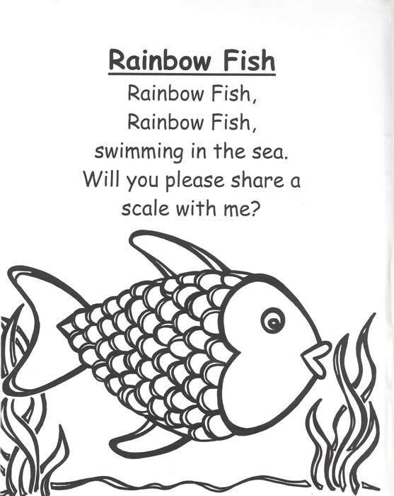 Rainbow Fish Poem Quiet Book Page Idea