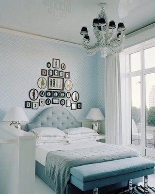 dormitorio en combinacion de tonos azules