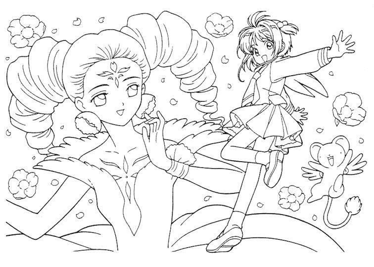 card captor sakura coloring pages - Cardcaptor Sakura Coloring Pages