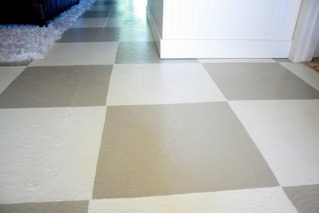 DIY painted floor