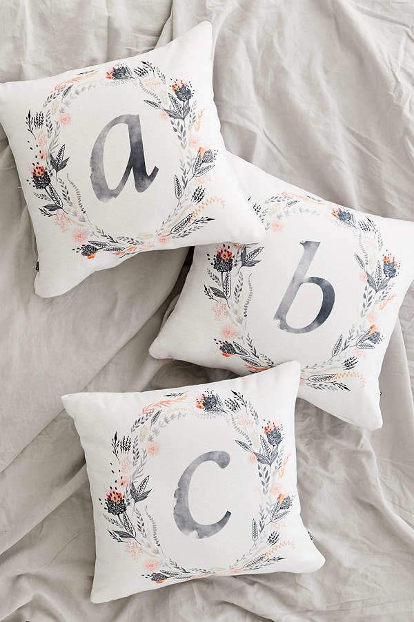 Deny Designs Iveta Abolina For Deny Pink Summer Monogram Pillow  #Urban Outfitters #ShopStyle #MyShopStyle click link for more information