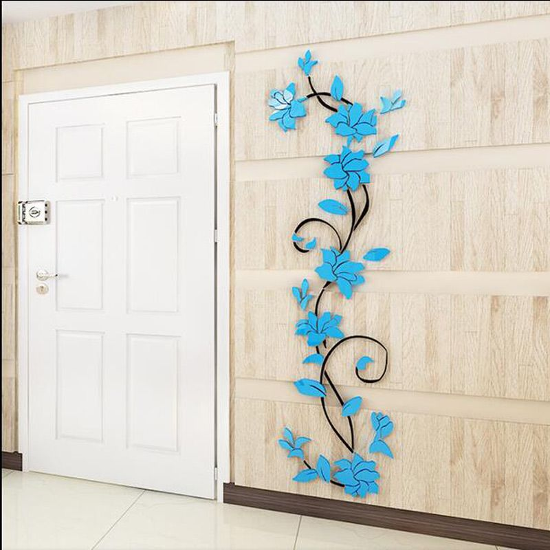 Free shipping flowercreative butterflies 3d wall stickers for Bedroom 3d wall stickers