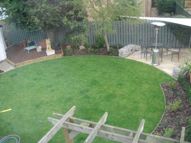 Open grass circle shade and circles pinterest for Circular lawn garden designs