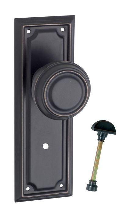 Antique Copper Edwardian Privacy Door Handle (Pair) | doors ...