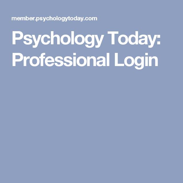 Psychologytoday com login