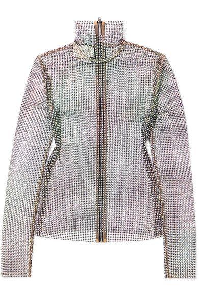 a0badb2ac GUCCI Crystal-embellished stretch-mesh turtleneck top. #gucci #cloth ...