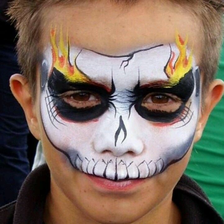 costume idea ghost rider face paint male pinterest. Black Bedroom Furniture Sets. Home Design Ideas