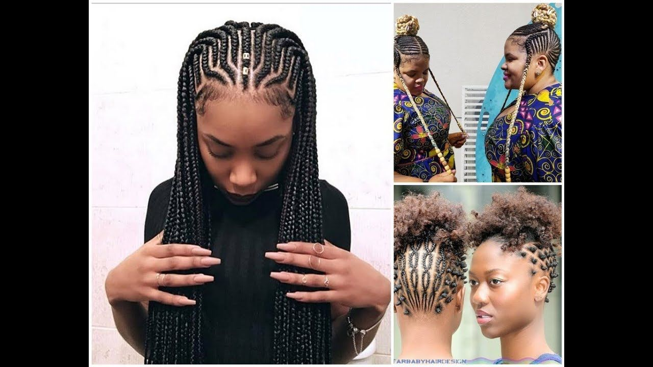 Latest Ghana Weaving: Awesome Braided Hairstyles : 2018 All Time Beautiful
