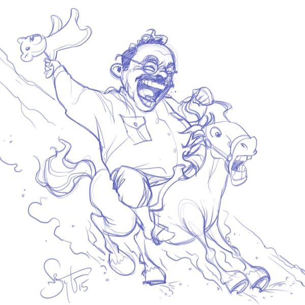 Teddy Roosevelt for Presidents Day by Nate Taylor for Sketch Dailies