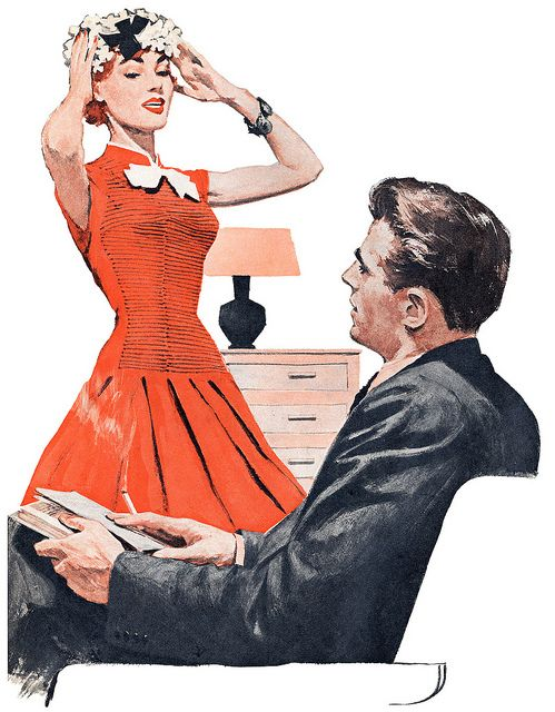 1958 illustration by Fred Laurent