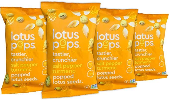 Amazon.com: Lotus Pops - Popped Lotus (Water Lily) Seed Snacks - Low Calorie Gluten Free and Vegan Snacks   Plant Protein   Roasted Not-Fried   Paleo   GrainFree   NonGMO Certified   (Pepper Turmeric 4 1oz Packs)