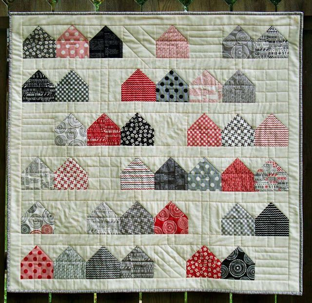 Hi, I'm Debbie from Esch House Quilts and I'm thrilled to be sharing my recipe for Neighborhood Charmon Moda Bake Shop! House quilts and quilts with limited color palettes always speak to me, so ...
