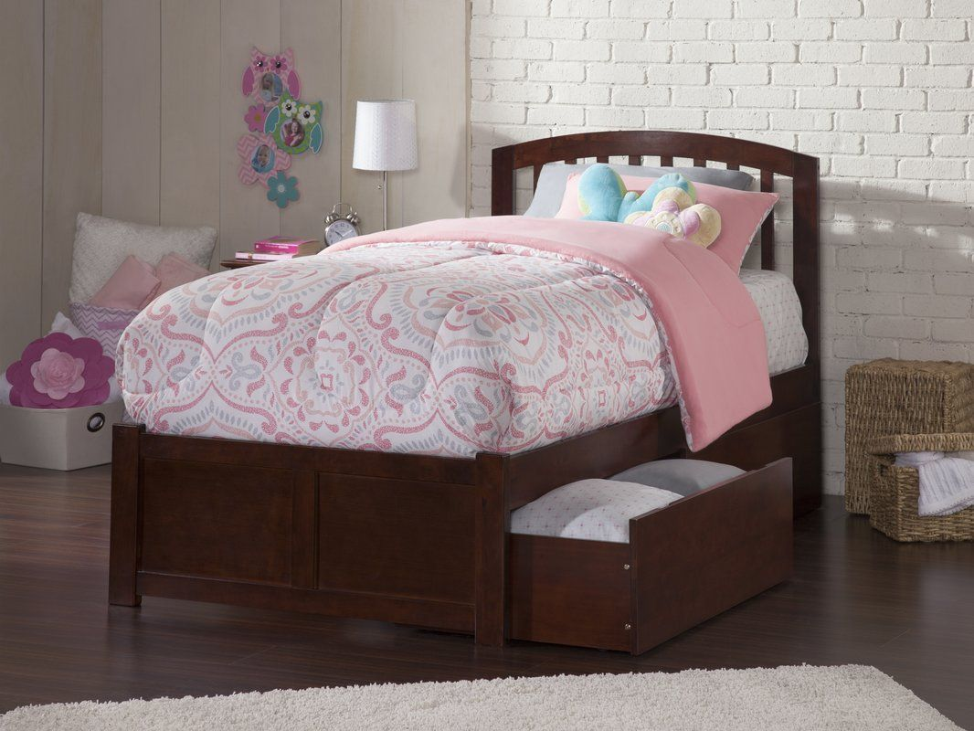 Timmy Extra Long Twin Bed with Drawers Atlantic
