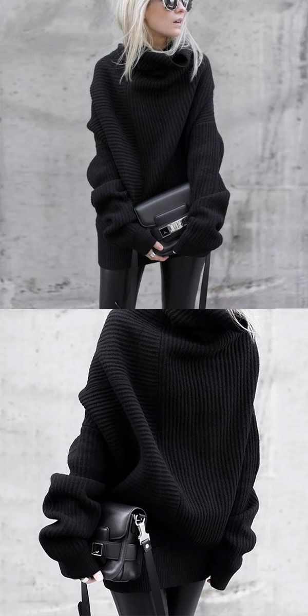 Black Sweater #sweateroutfits