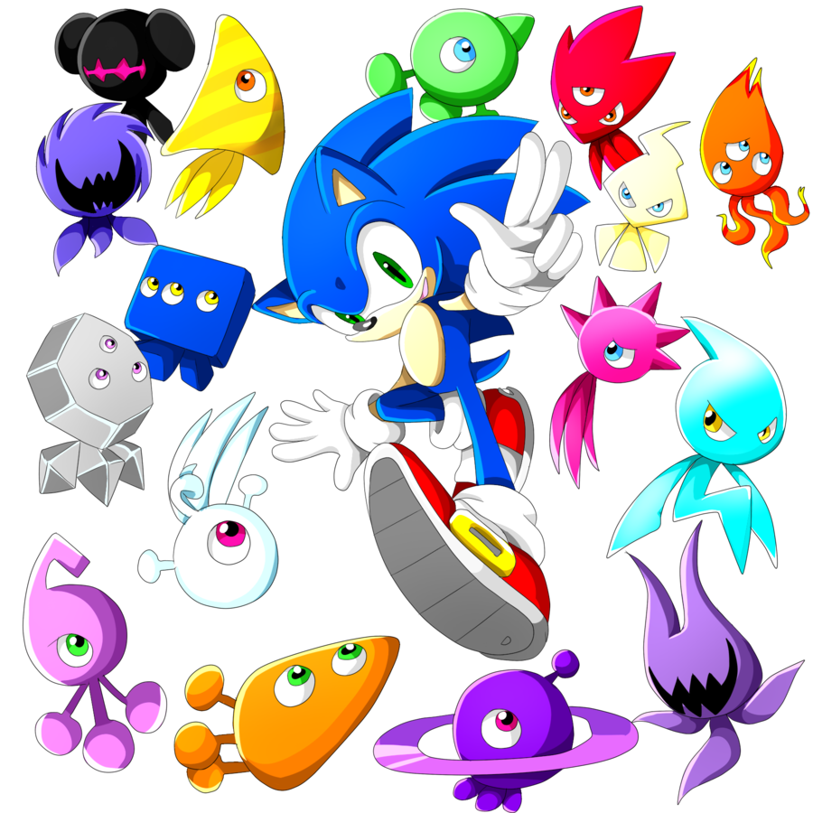 sonic and all wisps | Sonic the Hedgehog | Pinterest