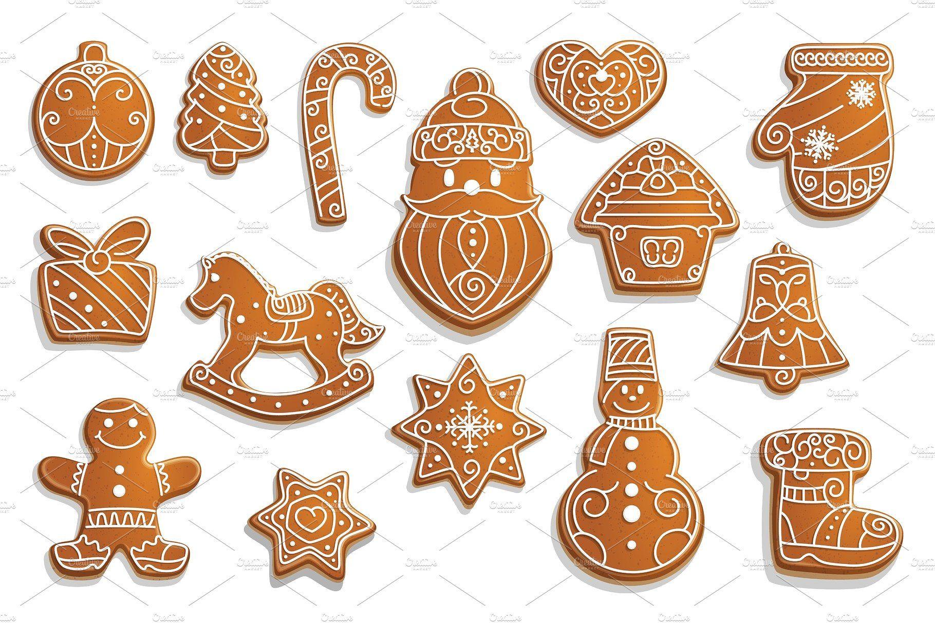 Gingerbread cookies, Christmas Пряничное печенье
