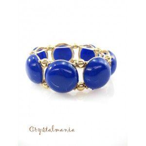 Pulsera ajustable con círculos en tono azul rey estilo 5028