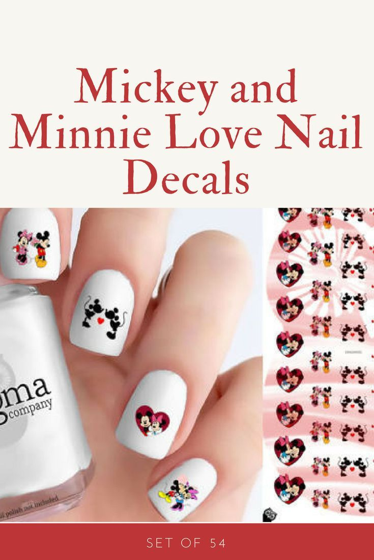 Celebrate Your Love For Mickey And Minnie With This Set Of 54 Nail