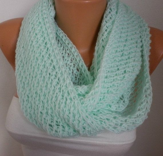 Infinity Scarves In A Circle Mint Scarf Infinity Scarf Shawl