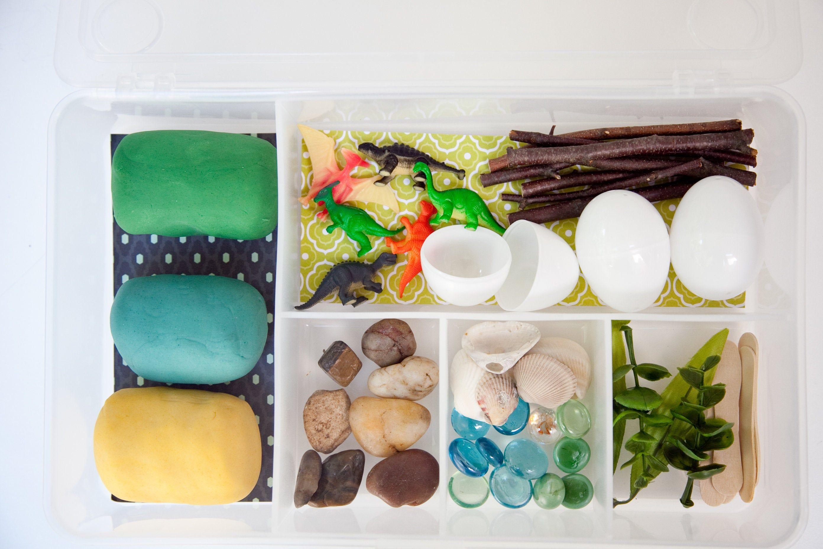 Dinosaur Play Dough Kit / Sensory Play / Loose Parts Kit