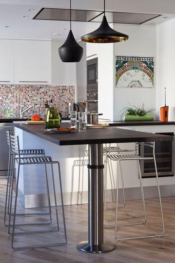 Appartement Paris avec cuisine ouverte sur le salon Tables, Bar - Table De Cuisine Avec Plan De Travail