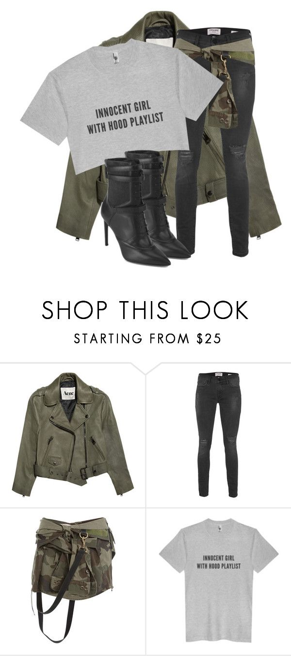 """""""Untitled #3405"""" by xirix ❤ liked on Polyvore featuring Acne Studios, Frame Denim, Faith Connexion and BOSS Black"""