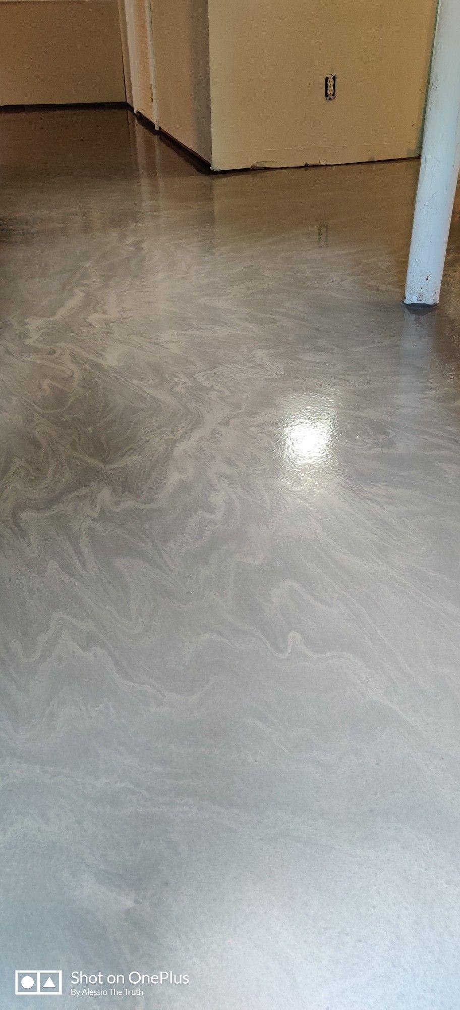 Self Leveling That S Unique Painted Concrete Floors Stained Concrete Concrete Floors