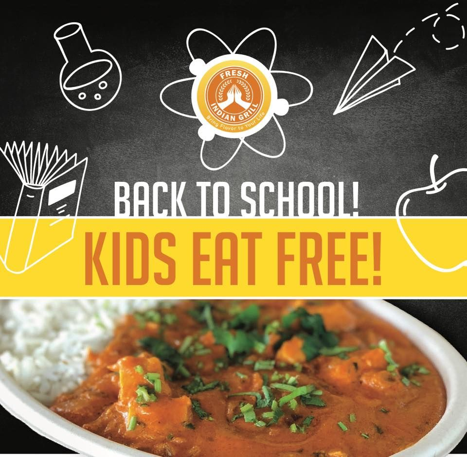 Kids Eat FREE Must purchase a adult entree of equal or lesser