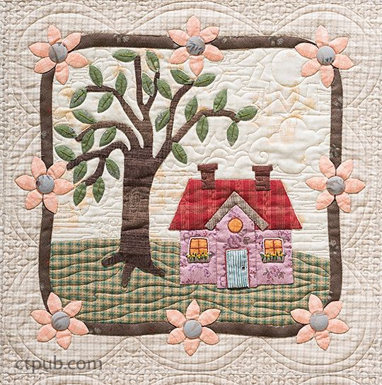 My Cozy Village | Felicia, Landscape quilts and House quilts : village quilts - Adamdwight.com
