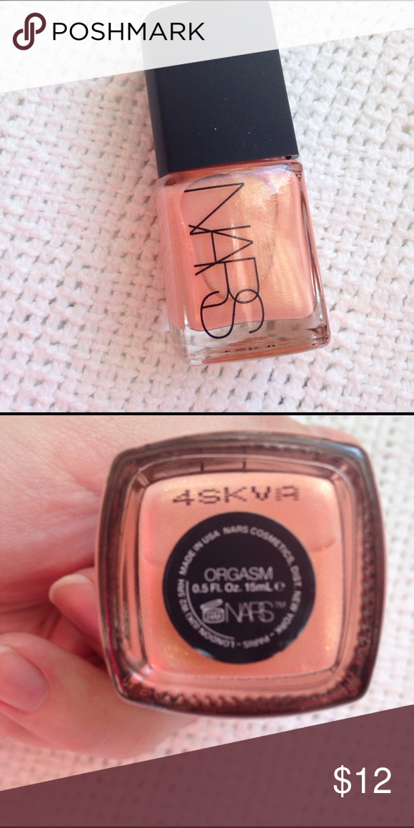 NARS nail polish in Orgasm NARS nail polish in Orgasm, was used to ...