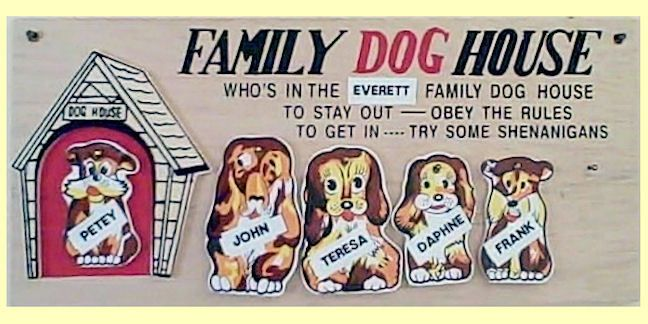 Family Doghouse Plaque Restless Mouse Discount Novelty Co