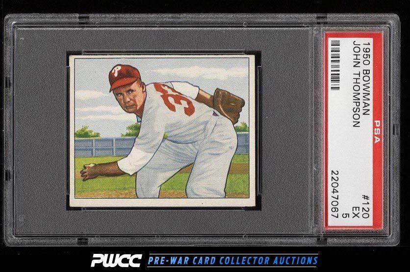 1950 Bowman John Thompson #120 PSA 5 EX (PWCC)