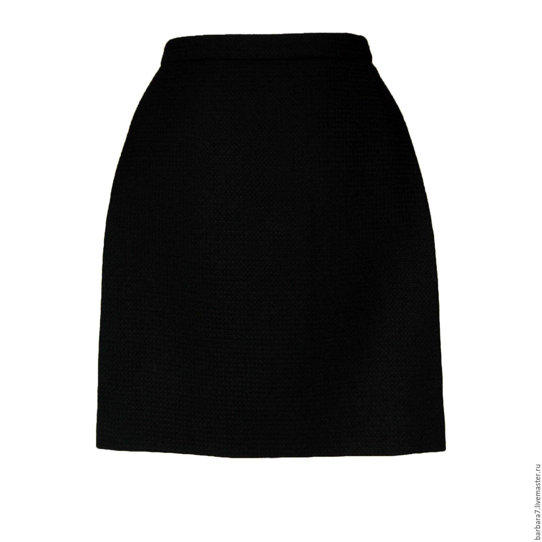 Теплая мини-юбочка А-силуэта