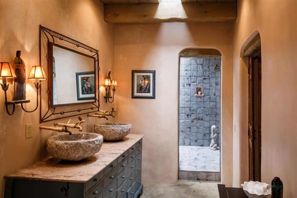 Traditional Master Bathroom With Inset Cabinets Complex Granite Enchanting Wall Sconces Bathroom Design Ideas