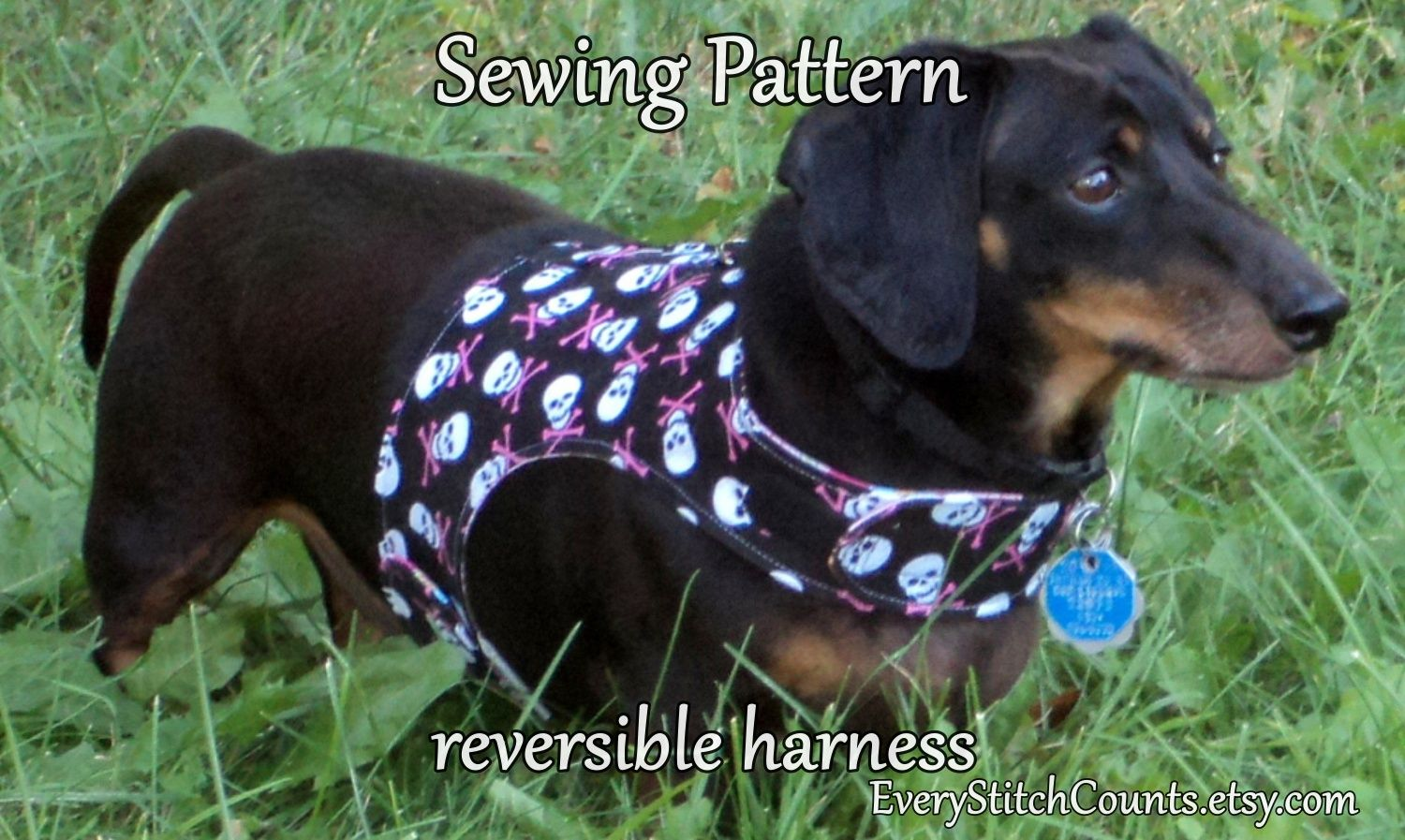 Dog Harness Diy Sewing Pattern Leash Instructions Too Dog