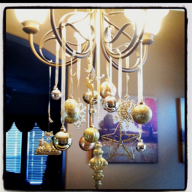 My holiday chandelier