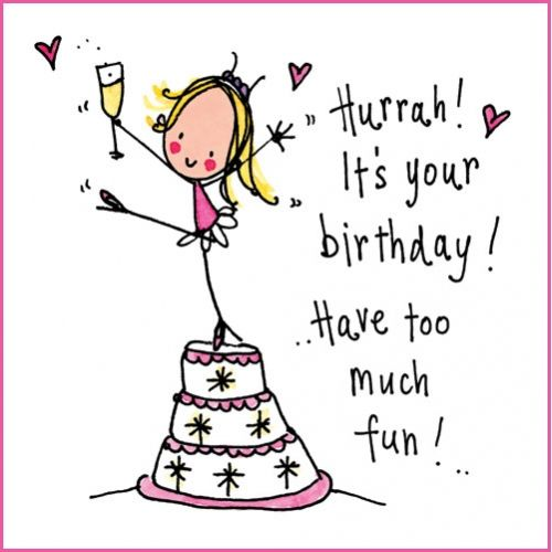 Hurrah Its your birthday Have too much fun – Crazy Happy Birthday Cards