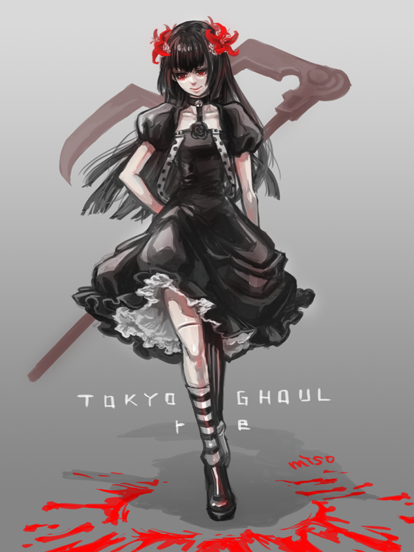 Juuzou Suzuya Black Haired With His Black Dress From Tokyo Ghoul Re