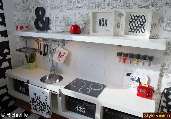 Play kitchen ikea hack hogar ideas y mas pinterest for Muebles de cocina hacker