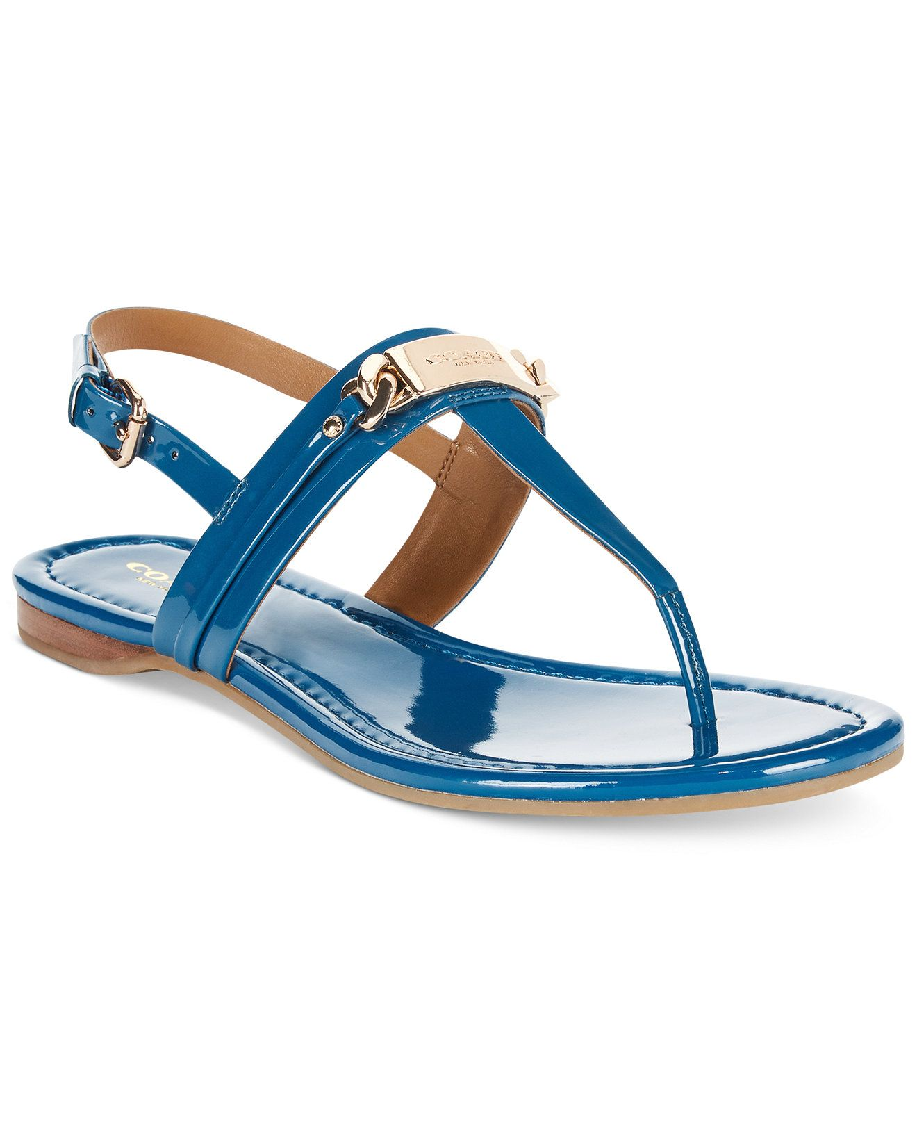 Shoes n sandals online - Coach Caterine Logo Hardware Flat Sandals Coach Shoes Handbags Accessories Macy S