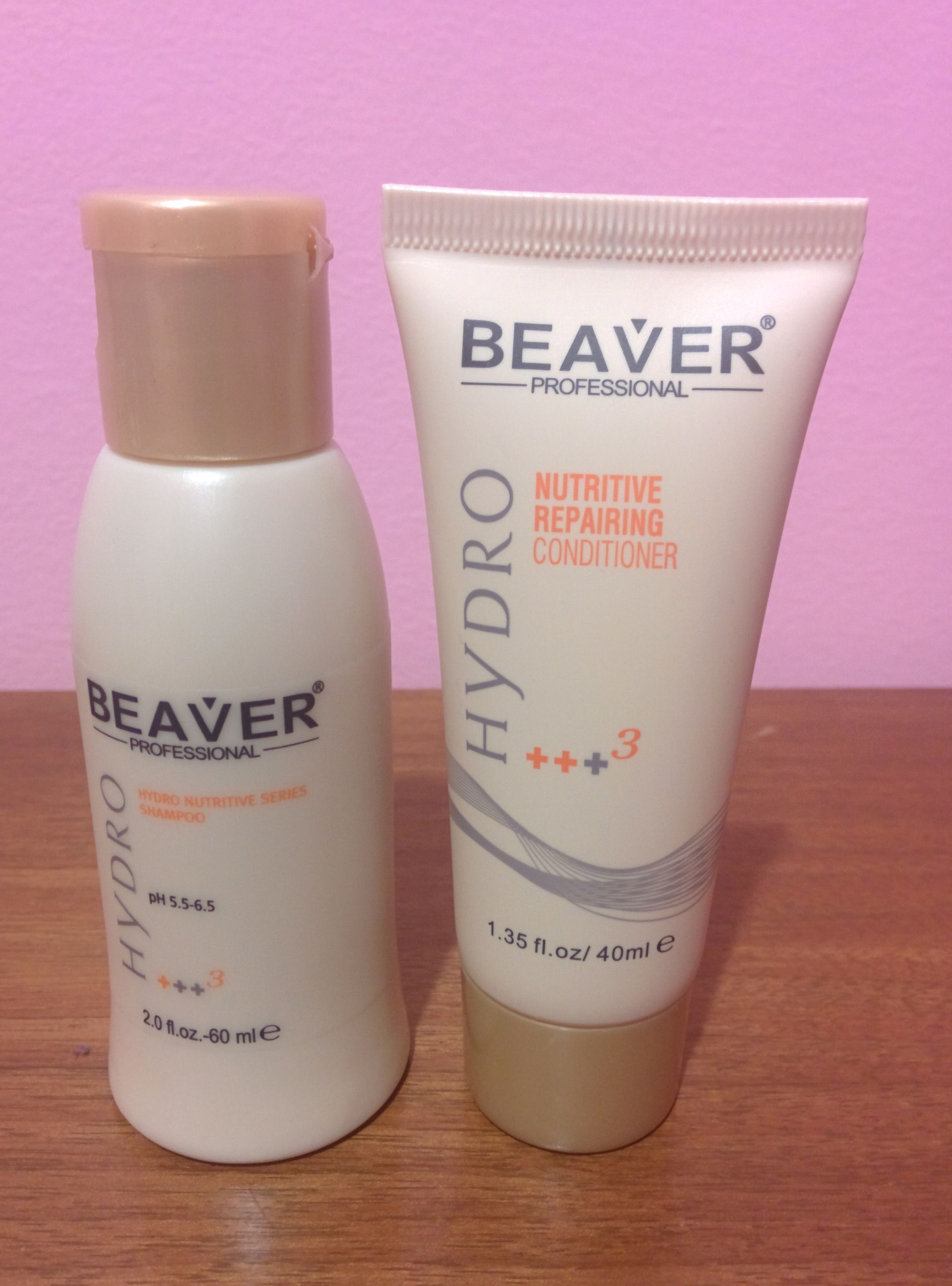 Beaver Professional Hydro Nutritive Shampoo, 60 ml / 2.0 oz Beaver Professional Nutritive Repairing Conditioner, 40 ml / 1.35 oz
