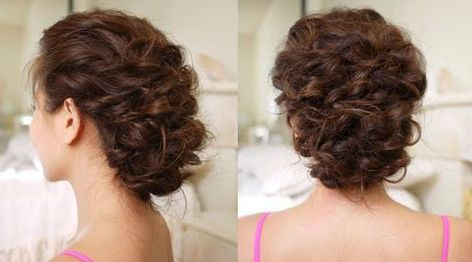 Easy Messy Updo Hairstyle Video Hair Styles Easy Hairstyles Hair Tutorial