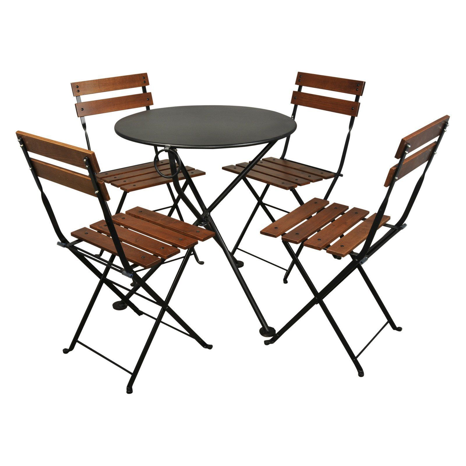 Outdoor furniture designhouse french cafe bistro chestnut wood