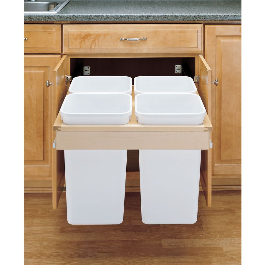 Rev-A-Shelf 27-Quart Plastic Pull Out Trash Can | For the Home ...