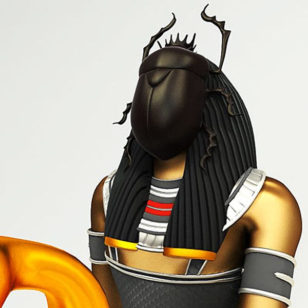 Egyptian god Khepri - 'He Who is Coming into Being'; Appearance: Man with the head of a scarab or a scarab beetle. Khepri was a god of creation, the movement of the sun, and rebirth.