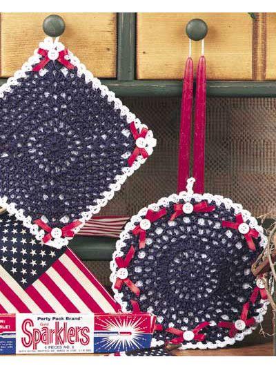 Pot Holders | pequeñas muestras crochet | Pinterest | Topflappen und ...
